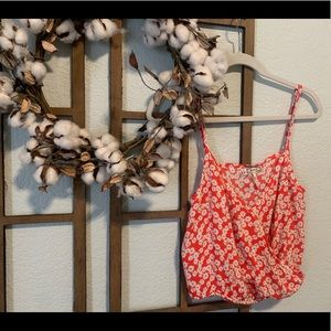 Floral crop tank- perfect for spring!